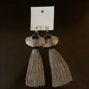 Free People Silver Tassel Earrings